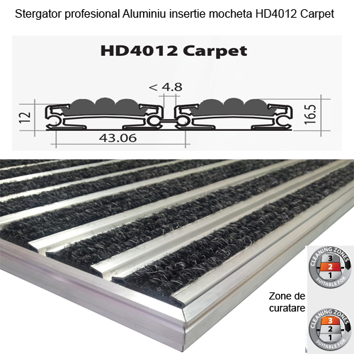 Stergator Aluminiu HD4012 Carpet