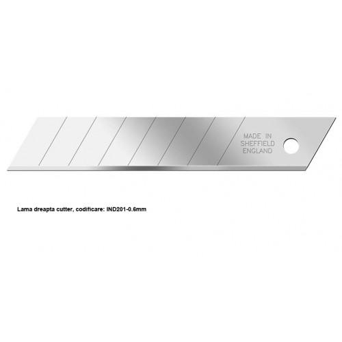 Lama dreapta cutter, IND201-0,6 mm