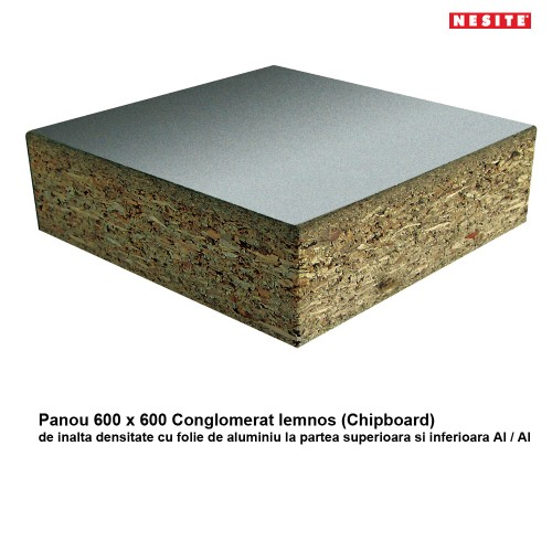 Panou 600 x 600 mm din Conglomerat (Chipboard)