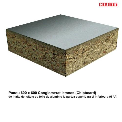 Panou 600 x 600 mm din Conglomerat (Chipboard)